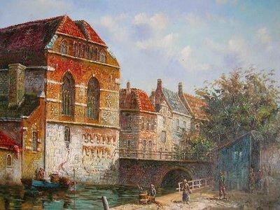 【聲聲慢古典油畫畫廊】☆純手工油畫—荷蘭景2