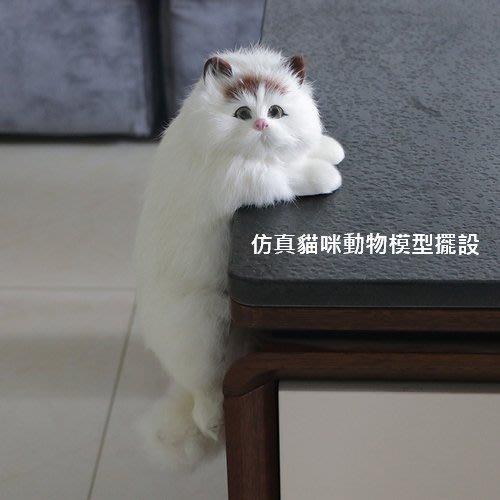 仿真貓咪動物模型擺設 家居電視工藝品毛絨玩具公仔裝飾(任選一隻)_☆優夠好SoGood☆