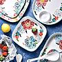 城堡花園美式手繪家用菜盤手繪陶瓷盤餐具米...