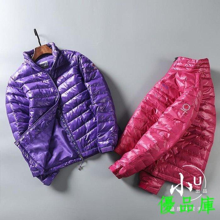 優品庫外貿男裝工廠 女士秋冬高端保暖立領長袖輕薄羽絨服外套