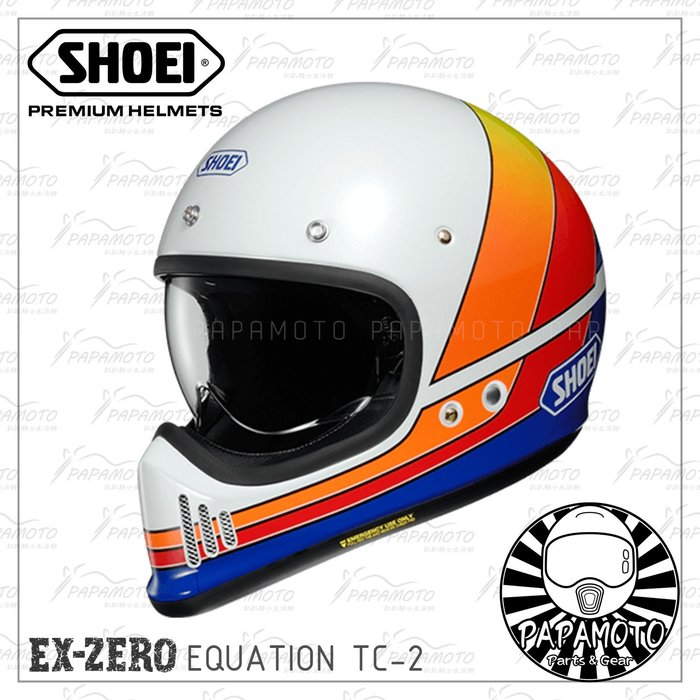 【趴趴騎士】SHOEI EX-ZERO EQUATION TC-2 山車帽 復古越野安全帽