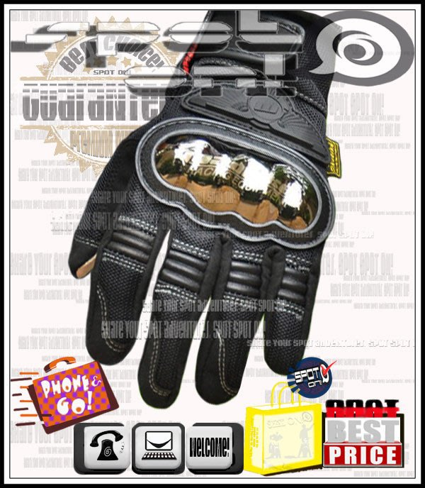 Spot ON - MADBIKE - MAD02S 金屬合金保護觸控手套! 防風 防潑水! ST4S 800SS 酷龍