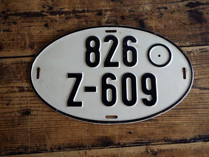 中古正品 德國汽車大牌 歐盟車牌( 鋁牌) 1980年代 出口車輛專用牌照 826