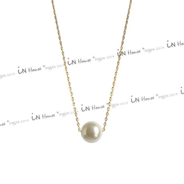 IN House* 出口日韓 INS 街拍 簡約 優雅 造型 珍珠 項鍊 吊墜 鎖骨鏈 頸鍊 項鏈 (特價)