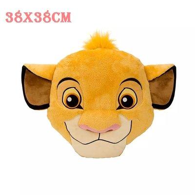 【美國大街】正品.美國迪士尼獅子王絨毛娃娃獅子王抱枕獅子王枕頭辛巴抱枕辛巴枕頭辛巴沙發靠墊 38x38cm