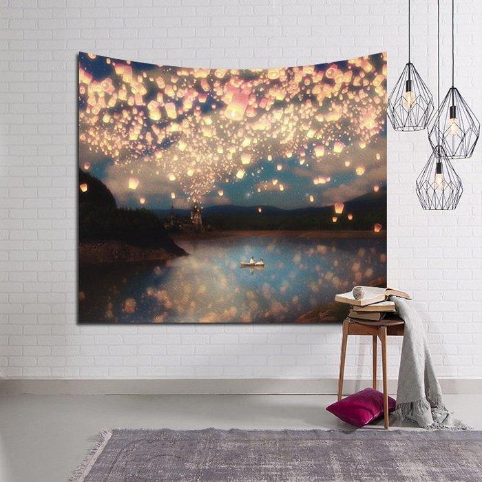 背景布 掛布 墻壁掛飾 背景墻 掛毯 北歐ins風景掛布 床頭客廳墻面背景裝飾畫布墻壁掛毯沙發巾瑜珈布