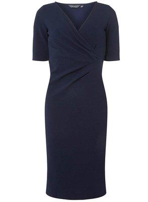 全新有牌英國DOROTHY PERKINS 大尺碼深藍色短袖洋裝 UK20