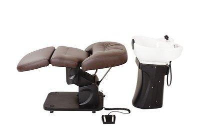 預購《SalonPlanet沙龍之星》BURLY恆溫電動洗頭椅(JWWA認證)/咖啡色/ 淺咖啡/深咖啡