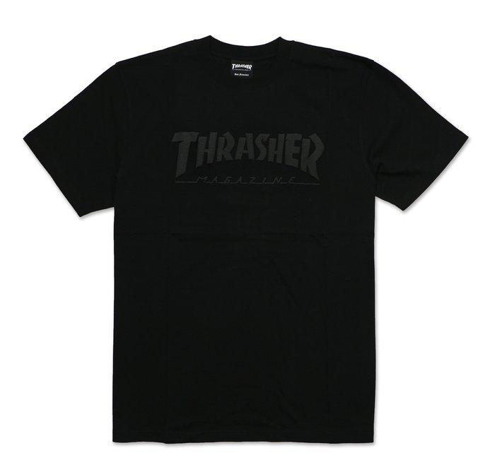 THRASHER FOAMING HOMETOWN S/S-黑色【HopesTaiwan】