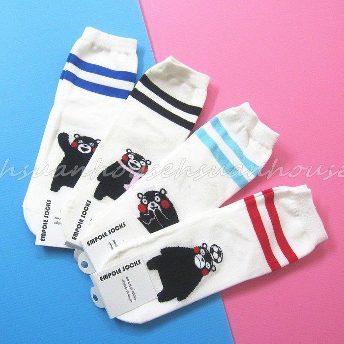 正韓 韓國襪  雙槓 熊本熊 襪子 短襪 @