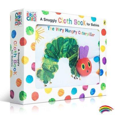 進口英文原版 好餓毛毛蟲Eric Carle: The Very Hungry Caterpillar Cloth Book 布書 兒童低幼版卡爾爺爺 親子共讀