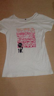 全新瑪登瑪朵10周年限定 我挺妳T恤(M) 我挺你 粉紅色 英文字母有腰身棉T