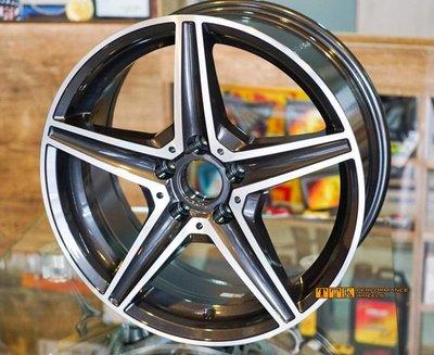 【美麗輪胎舘】2020 新款五爪鋁圈樣式 17吋 5孔車系適用 7.5J 亮黑灰車面