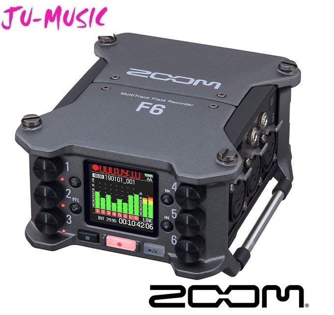 造韻樂器音響- JU-MUSIC - Zoom F6 錄音裝置 錄音設備 !!『公司貨,免運費』