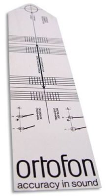 【音逸音響】唱頭調整尺規 》丹麥 Ortofon cartridge alignment protractor