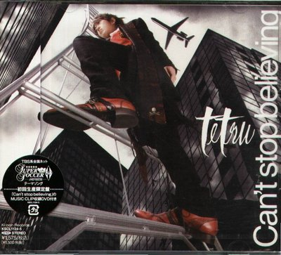 K - tetsu - Can't stop believing - 日版  CD+DVD - NEW