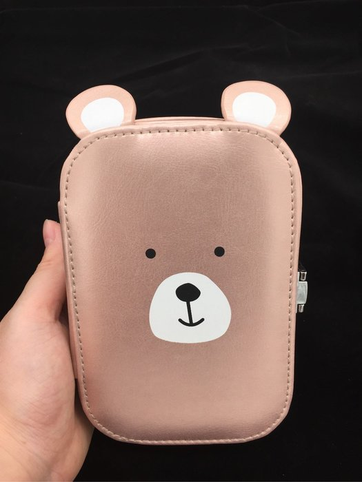 DAFA 小熊攜帶式首飾盒 小收納盒 化妝盒 現貨~~