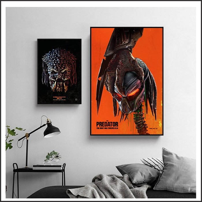 日本製畫布 電影海報 終極戰士 掠奪者 The Predator 掛畫 嵌框畫 @Movie PoP 賣場多款海報~
