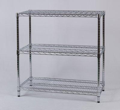 【鐵架工場】s304白鐵重型90x45xH120公分三層架~波浪架~展示架~商品架~衛浴架~收納神器~衣櫥架~宿舍衣櫥