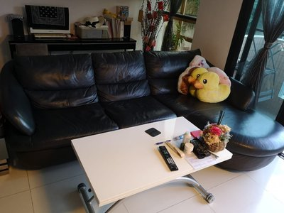 Kuka Home 真皮L型貴妃椅梳化
