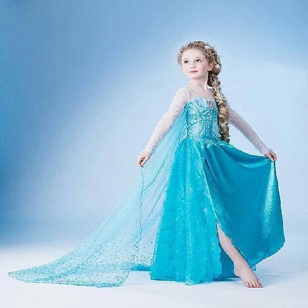 萬聖節冰雪奇緣表演服裝frozen女童elsa女王公主連衣裙披風紗裙生日派對禮服過年禮物--崴崴安兒童館--