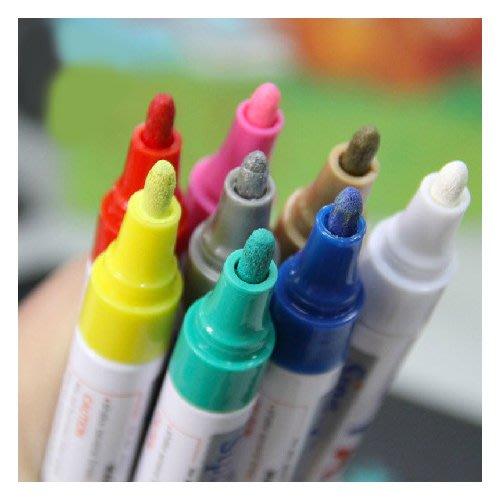 小賴的店-- 不掉色記號筆粗 油漆筆補漆筆彩筆可愛金屬水粉筆相冊配件
