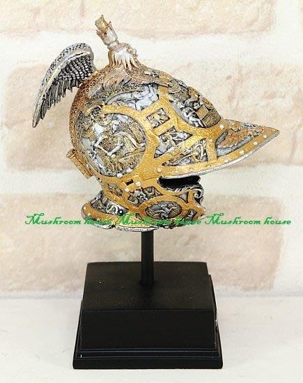 點點蘑菇屋{中古武士擺飾}費迪南二世 頭盔 歐洲鐵甲武士 盔甲武士 模型 現貨