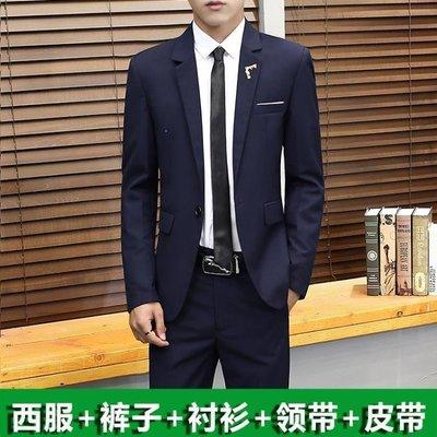 綠光街鋪 男士西服套裝帥氣韓版修身小西裝一套大學生休閒結婚外套正裝潮流S258