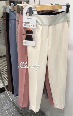 ☆Milan Shop☆網路最低價 正韓Korea春夏必買款 下切邊包小腹彈性腰九分雪紡褲 6色$880(免運)現貨 新北市