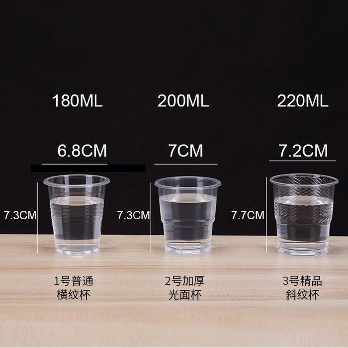 預售款-LKQJD-一次性塑杯塑料杯透明杯加厚航空杯塑膠杯一次性水杯子整箱包郵