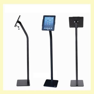 5Cgo【批發】含稅會員有優惠 524068434013 iPadair平板落地立式防盜帶鎖支架黑色廣告展會展覽商鋪展示