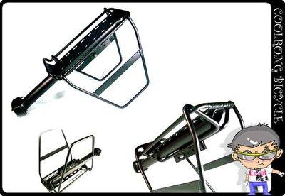 ╭◇酷榮單車◇╮027012027011◇螺絲固定式鋁合金馬鞍袋專用貨架和側支架640元黑色