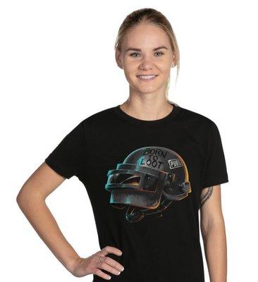 【丹】J!NX_PUBG BORN TO LOOT WOMEN'S TEE 絕地求生 三級頭盔 吃雞 女版 T恤