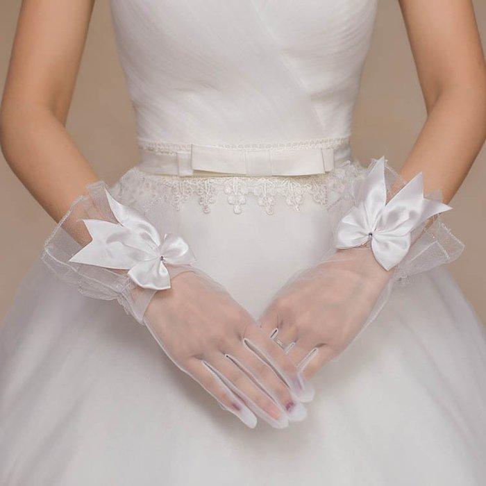 爆款--新娘手套結婚蕾絲婚紗手套白色婚禮短款手套全指夏季薄紗新款#新娘用品#頭飾#復古#手工藝品