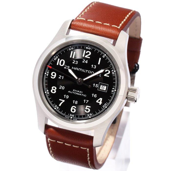 HAMILTON H70555533 漢米爾頓 手錶 機械錶 42mm 黑面盤 咖啡錶帶 男錶女錶
