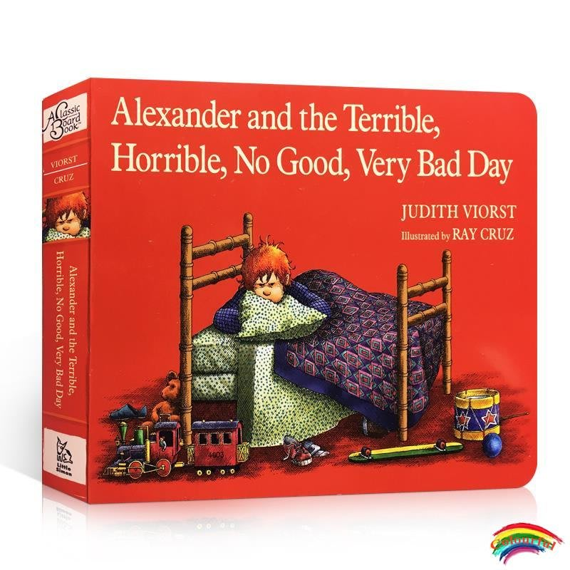 英文原版Alexander and the Terrible, Horrible, No Good, Very Bad Day 亞歷山大和糟糕的一天兒童紙板書汪