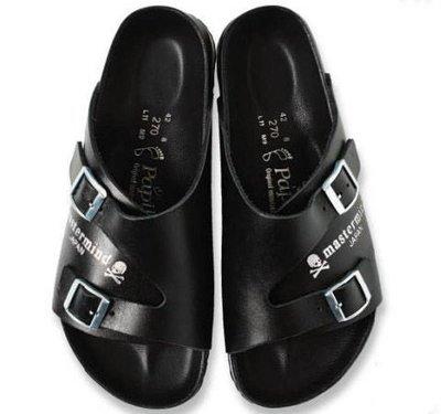 【URA 現貨】MMJ Mastermind JAPAN × PAPILLIO BARCELONA 勃肯 真皮 休閒涼鞋