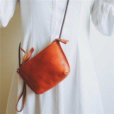 側背包 真皮 手拿包-復古純色植鞣牛皮女包包5色73wv7[獨家進口][米蘭精品]