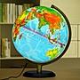 地球儀32CM地球儀燈光led高清中英文地形學生用擺件帶燈光木質底座哆啦A珍