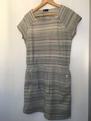 GAP 淺色 條紋 短袖 厚款 連身衣 連身裙 厚質 95%棉 越南製造 香港代購 日本代購 韓國代購 香港 日本 韓國