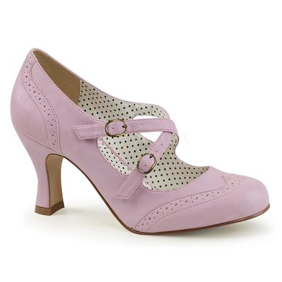 Shoes InStyle《三吋》美國品牌 PIN UP CONTURE 原廠正品復古低跟包鞋 有大尺碼『粉紫色』