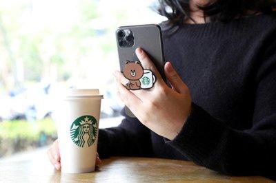 LINE Pay 星巴克推限定聯名 超萌熊大手機架