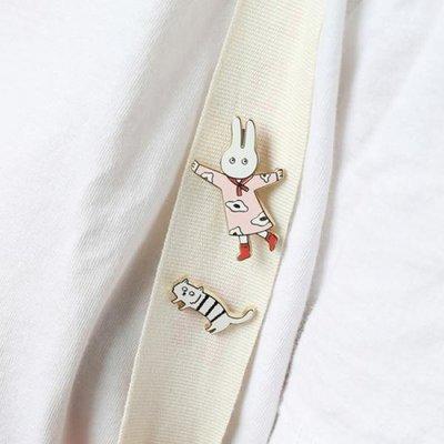 ♀高麗妹♀韓國 Romane BRUNCH BROTHER 早午餐兄弟 2枚入金屬材質胸針/別針/徽章(6款選)預購