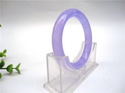 【錦雲閣】冰種翡翠色石英岩玉手鐲正品紫羅蘭玉鐲女款紫色玉鐲子