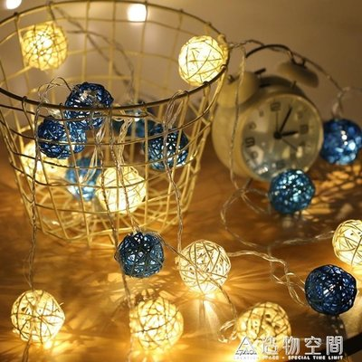 LED小彩燈閃燈串燈滿天星藤球燈網紅燈房間臥室聖誕裝飾燈星星燈 造物空間