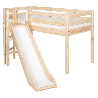 FLEXA Classic Semi-High Beds 中高床兒童房配置樓梯(F款),另提供丹麥原廠獨立筒床墊供選配。
