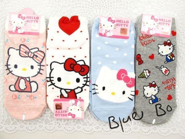 ~*BlueBo*~韓國進口 韓國短襪   正版授權 可愛Kitty棉短襪~韓國製