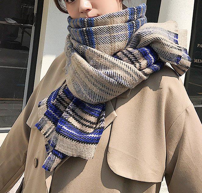 SEYES 超美柔軟配色格紋圍巾/披肩