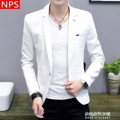 ZIHOPE 西服男新款夜場小西裝潮流休閒男士上衣韓版個性單西外套ZI812