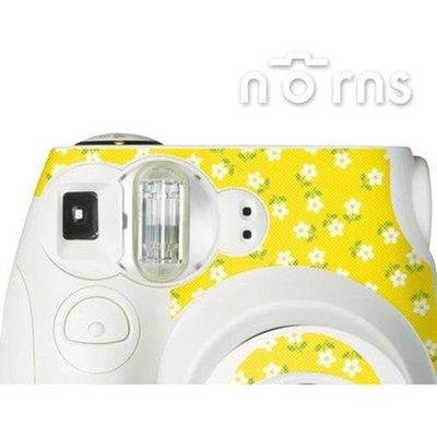 Norns MINI7S 專用FUJIFILM日本富士原廠拍立得相機機身貼紙【White Yellow】